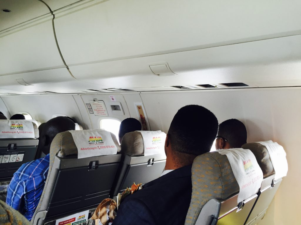 'Bishop' Obinim and his aide de camp just a row ahead of me