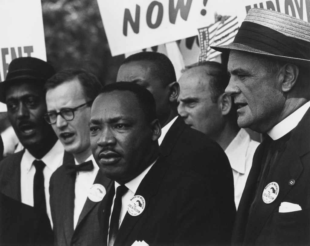 King at the 1963 Civil Rights March on Washington, D.C. (credit: Wikipedia)