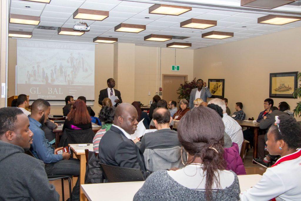 Teaching at Memorial University last November (2016)